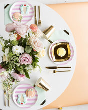 Load image into Gallery viewer, Pink and White Dinner Plate