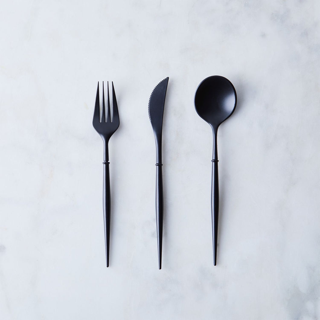Bella Black Cutlery Set