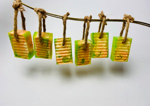 Citrus Tie Dye Soap on a Rope