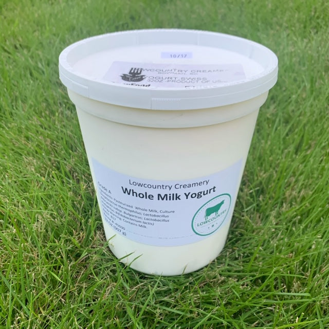 Low Country Creamery- Whole Milk Swiss Yogurt- Quart