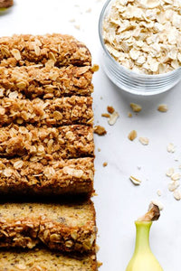 Banana with Oats Zucchini Bread by The Blue Root