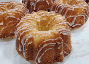 4 Mini Bundt Vanilla Pound Cakes with Glaze