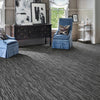 frequency area rug living room in colour black stone