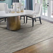 frequency area rug dining room in colour oyster grey