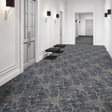 marble arch area rug in hallway in colour marine