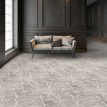 marble arch area rug in room in colour silver mine