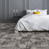 regent area rug in room in colour charcoal