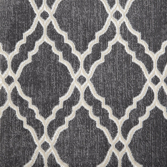 Clifton area rug in colour steel