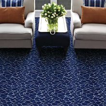 fairwater area rug in living room in colour ocean