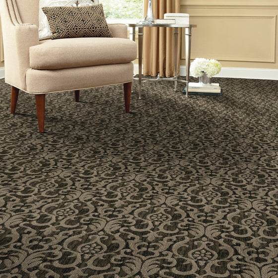 indus area rug living room in colour earl grey