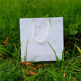 Plantable seed paper bags with white thread for wedding gift, Birthday gift, Festival gift