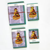 Devraaj Handmade Paper Lord Budhdha Diary Set Of 4 different size with Seed Pens & Seed Pencils