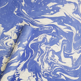 Eco-friendly blue colour marble desing handmade paper in Ahmedabad