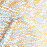 Marble design handmade paper in white and golden colour available online