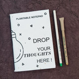 Plantable seed paper notepad