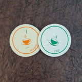 Use and throw coasters for tea and coffee, drinks and beverages serving
