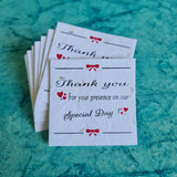 "Plantable Thank You Cards 3""x3"" Size"