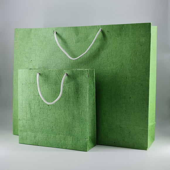 Eco-friendly Emboss Textured Handmade Paper Bags Set of Two Size Bags ( 5 Sets )
