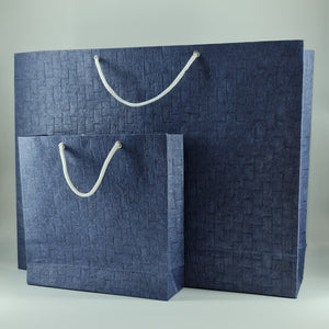 Eco-friendly Emboss Textured Handmade Paper Bags Set of 2 Bags