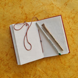 "Designer Mirror Handmade Paper Diary with seed pen and seed pencil size 5""x7"""