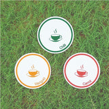 Devraaj Eco-friendly Plantable seed paper coasters in round shape with various type of seed papers and printing design
