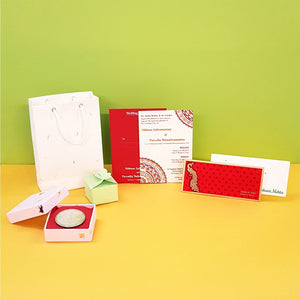 Plantable seed paper wedding invitation combo pack with money envelope paper bags gift boxes