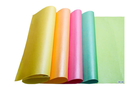 Metallic handmade paper made from cotton with various colour options available online