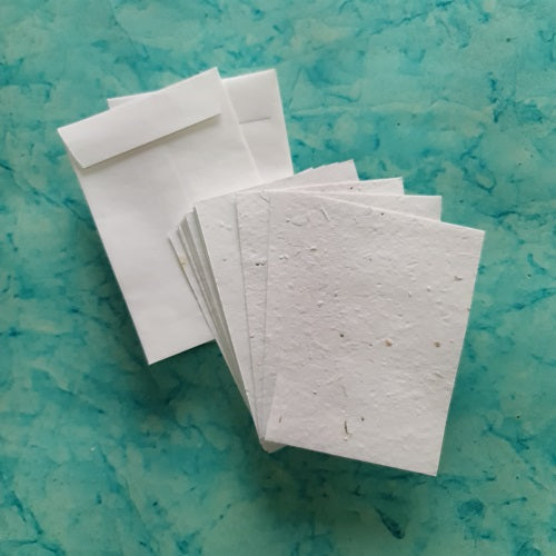 Plantable Mix Vegetables seed paper in white colour with handmade paper envelope