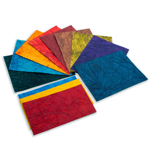 Eco-Friendly wrinkle handmade paper wrinkle paper use for paper bags envelopes wedding cards
