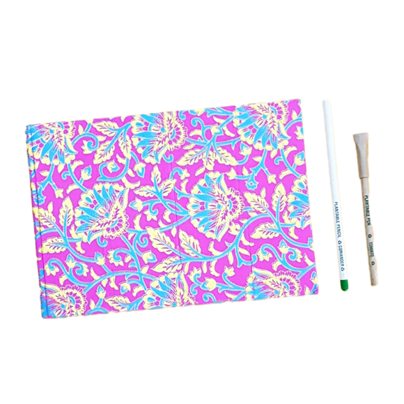 Handmade paper diary, Handmade paper notepad, plantable pencil, plantable pen, Eco-friendly stationery, Eco-friendly diary, Writting pad, Exclusive diary, Corporate gift, gifting, rose petal paper, floral petal handmade paper, handmade paper