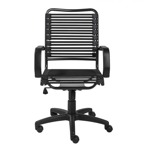 Black Flat Bungie Cords High Back Office Chair - House Of Racha