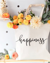 Load image into Gallery viewer, Happiness Cotton Canvas Tote Bag - House Of Racha