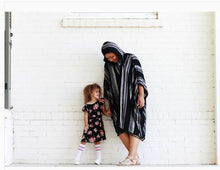 Load image into Gallery viewer, Long Striped Poncho Cardigan