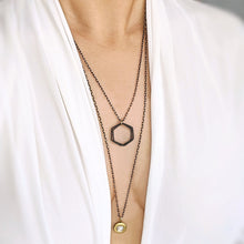 Load image into Gallery viewer, CITY OF GLASS BLACK BRASS LOCKET WRAP - WEAR IT 3 WAYS - ADJUSTABLE