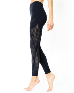 Milano Seamless Legging - Black [MADE IN ITALY]