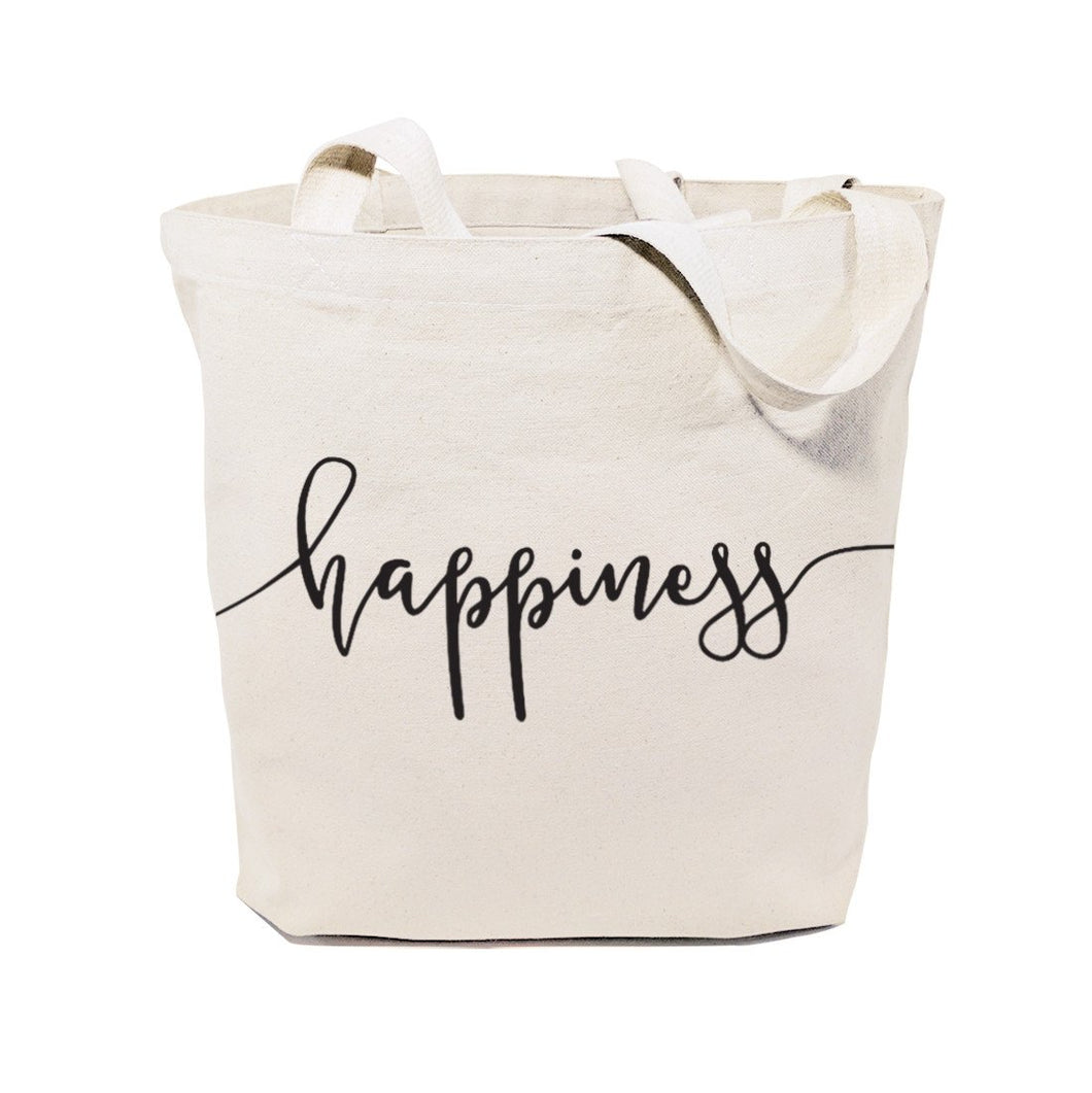 Happiness Cotton Canvas Tote Bag - House Of Racha