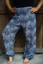 Load image into Gallery viewer, Black Paisley Women Boho Pants Yoga - House Of Racha