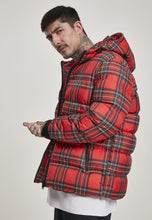 Load image into Gallery viewer, Hooded Check Puffer Jacket
