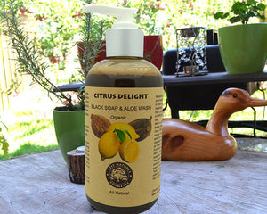 Organic Citrus Delight Face & Body Wash - House Of Racha