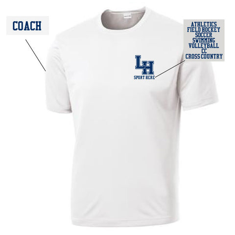 LH Coaches Short Sleeve White Performance Shirt
