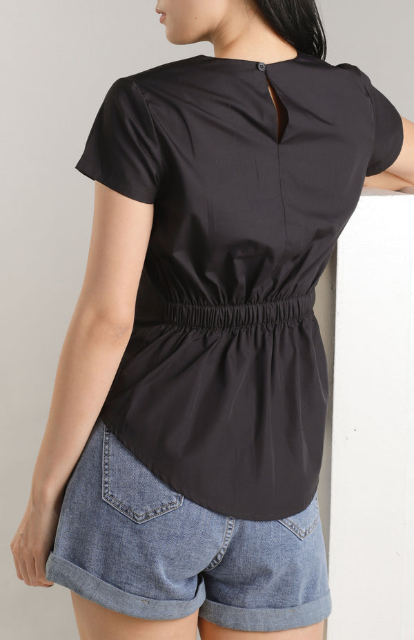 Annisa Elastic Back Top - Black