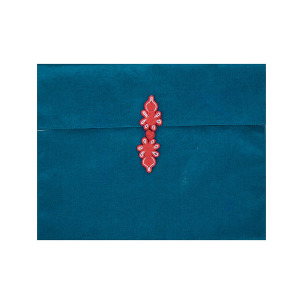 CHINESE KNOT POUCH - BLUE / RED
