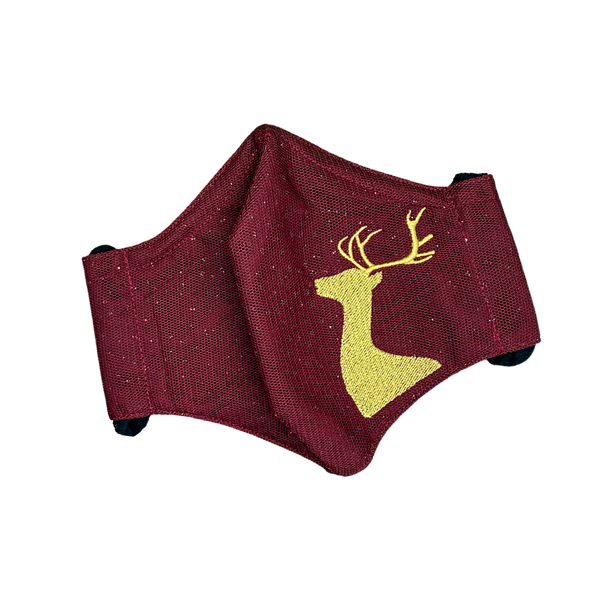 ANIMAL SERIES / REINDEER (MAROON/ GOLD)