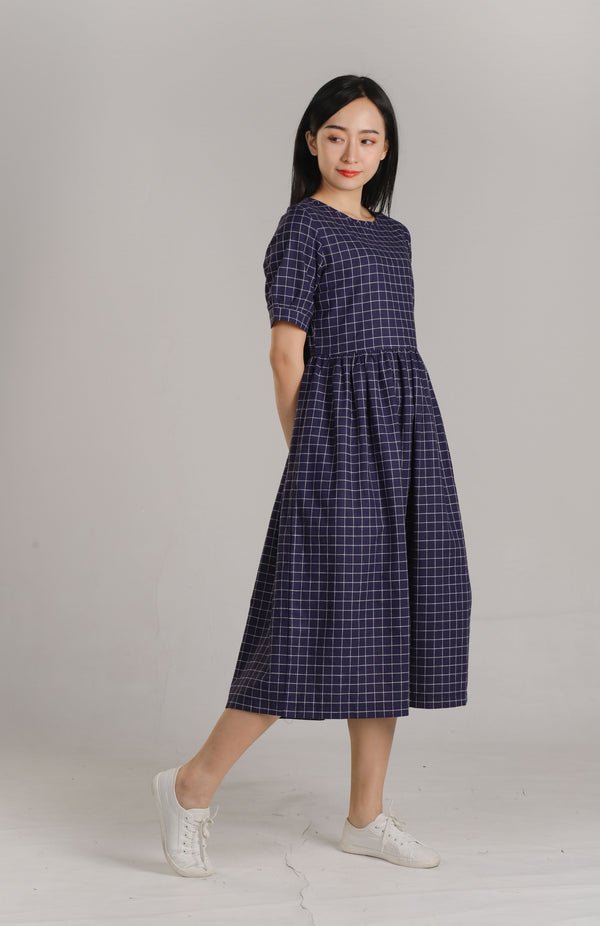 Abby Checkered Midaxi Dress