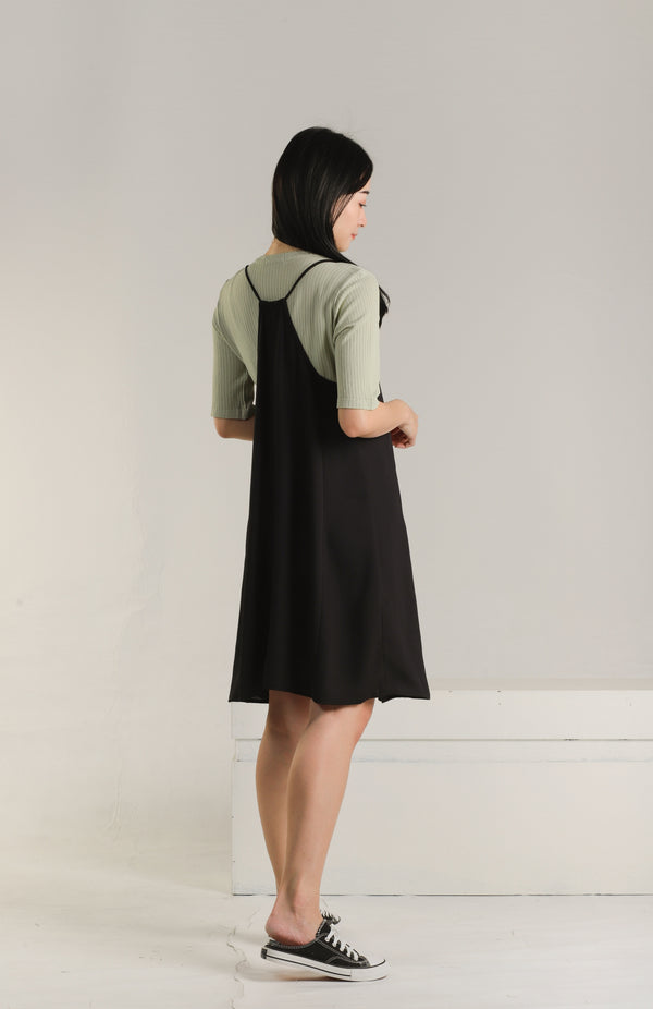 Adina Relaxed Summer Dress - Black