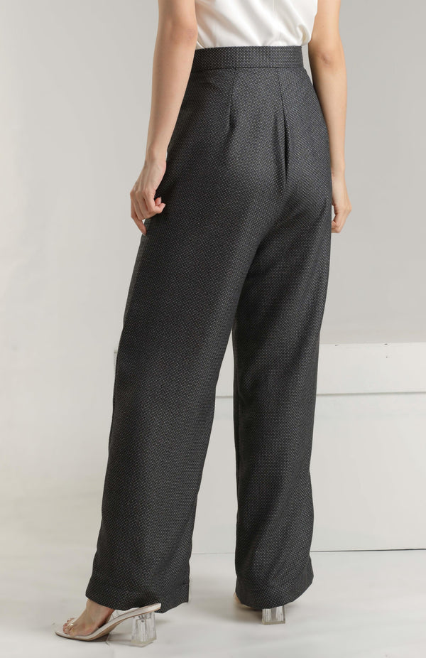 Alaina Flare Pants - Blue-black
