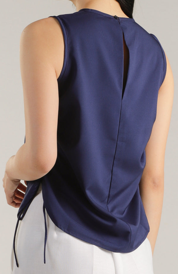 Arin Ruched Top - Navy