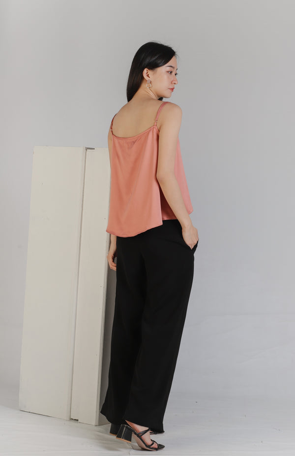 Myla Square Neck Top - Blush