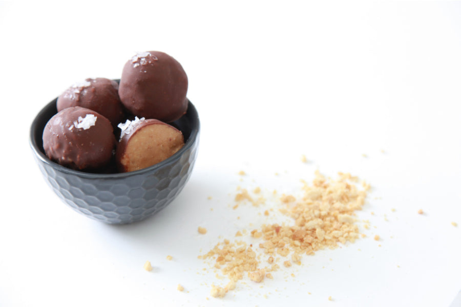 Salted Chocolate Peanut Butter Balls
