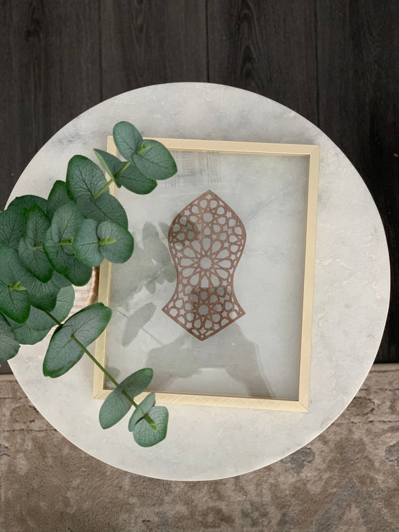 Framed Stone Calligraphy - 8x10 Standing